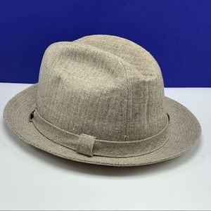 Stetson men's fedora hat cap beige 7 and 3/4 vtg
